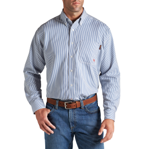 Men's  FR Stripe Work Shirt