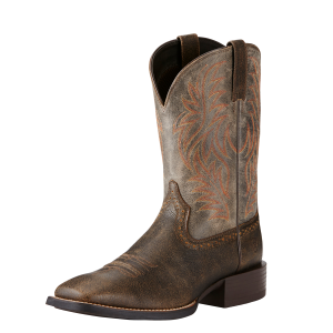 Men's  Sport Western Wide Square Toe Boot