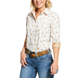 Women's  Kirby Cactus Flower Stretch Shirt