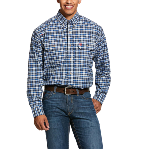Men's  FR Plaid Featherlight Work Long Sleeve Shirt