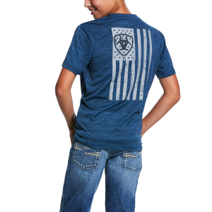 Boys'  Charger Vertical Flag Tee