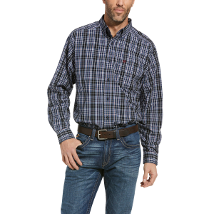 Men's  Racer Plaid Button Down Shirt