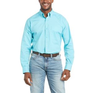 Men's  Teron Stretch Classic Fit Long Sleeve Shirt