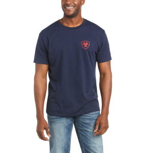 Men's  Ariat US Of A Short Sleeve Tee
