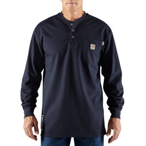 Men's  Flame-Resistant Force Cotton Long-Sleeve Henley