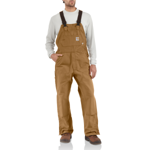 Men's  Flame-Resistant Duck Bib Overall