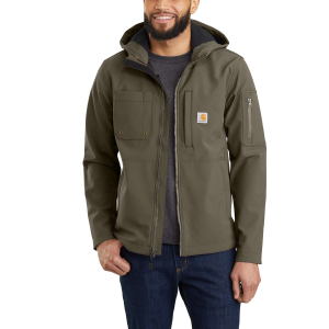 Men's  Hooded Rough Cut Jacket