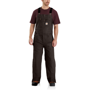 Men's  Quilt-Lined Washed Duck Bib Overalls