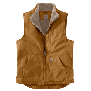 Men's  Washed Duck Sherpa-Lined Mock Vest