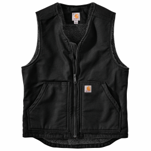 Men's  Washed Duck Sherpa Lined Vest