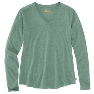 Women's  Relaxed Fit Midweight Long Sleeve V-Neck Tee