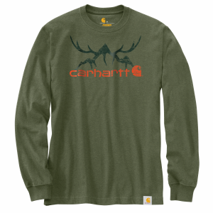 Men's  Original Fit Heavyweight Hunt Graphic Long Sleeve Tee