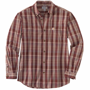 Men's  Relaxed Fit Cotton Long Sleeve Plaid Shirt