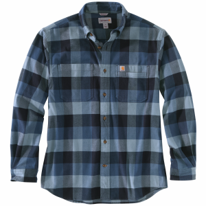 Men's  Rugged Flex Relaxed Fit Flannel Plaid Long Sleeve Shirt