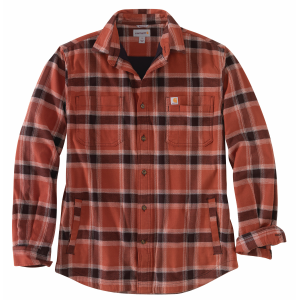 Men's  Rugged Flex Relaxed Fit Flannel Fleece-Lined Plaid Shirt