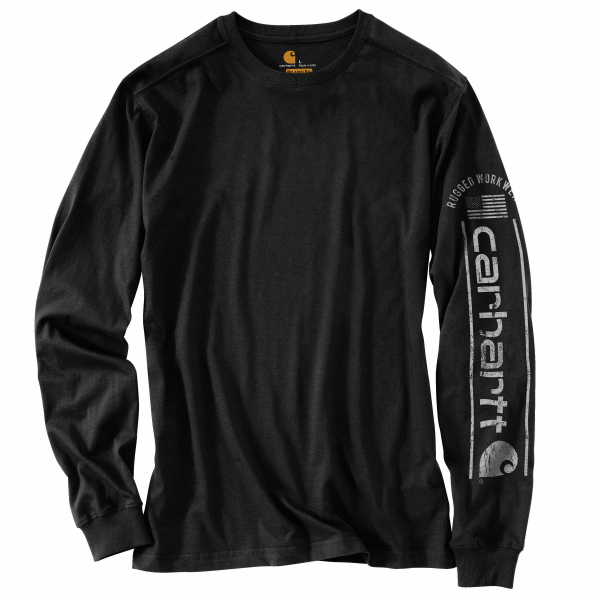 Relaxed Fit Midweight Long Sleeve Graphic Tee