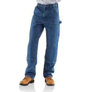 Men's  Double-Front Logger Dungaree-Washed