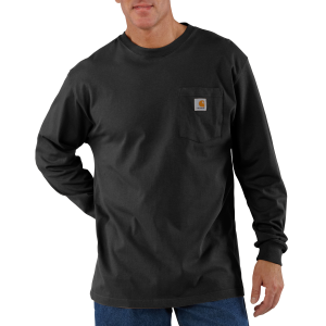 Men's  Long Sleeve Workwear Pocket T-Shirt