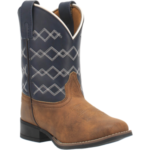 Kids'  Quilted Wide Square Toe Western Boot