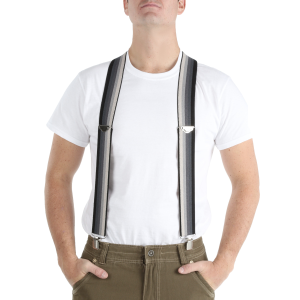 "Men's  2"" Wide Striped Elastic Suspender"