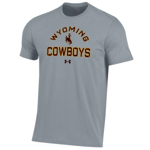 Men's  Wyoming Cowboys Gray Performance Short Sleeve T-Shirt