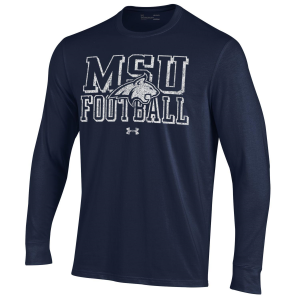 Men's  Montana State Bobcats Navy Long Sleeve T-Shirt