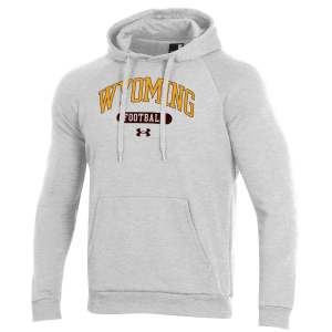 Men's  Wyoming Cowboys White All Day Fleece Hoodie