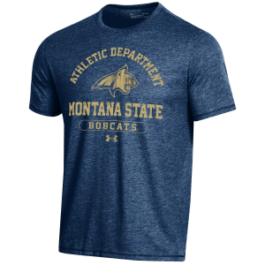 Men's  Montana State Bobcats Bi-Blend Short Sleeve T-Shirt