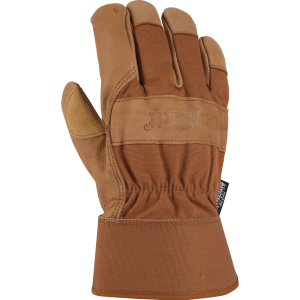 Men's  Insulated Grain Leather Work Glove with Safety Cuff