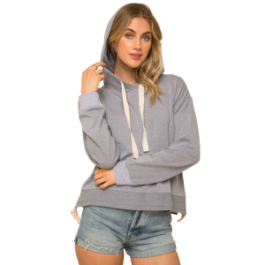 Women's  Adjustable Ruched Bottom Hoodie