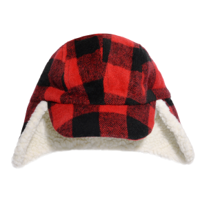 Boys'  Wool Blend Plaid Lined Fargo Hat