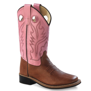 Girls'  Broad Square Toe Corona Western Boot