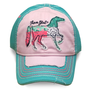 Girls'  Patchwork Horse Baseball Cap