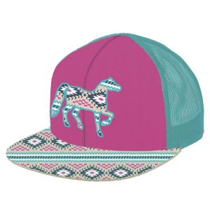 Girls'  Aztec Horse Mesh Back Cap