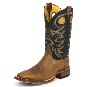 "Men's  11"" Caddo Brown Bent Rail Square Toe Boot"