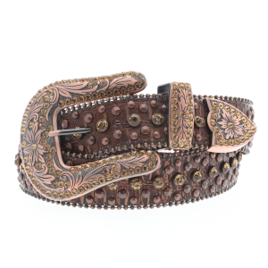 Women's  Gold Rhinestone Studded Belt