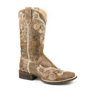 Women's  Floral Embroidery Western Boot