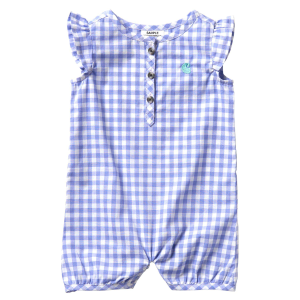 Girls'  Infant Woven Plaid Romper