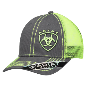 Kids'  Lime Green Shield Logo Snapback Cap