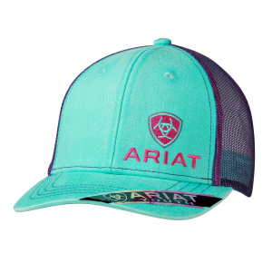 Girls'  Turquoise & Purple Mesh Back Cap