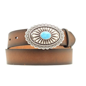 Women's  Oval Turquoise Stone Belt