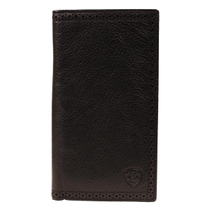Men's  Black Deer Tan Leather Rodeo Wallet