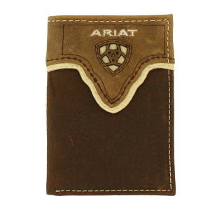Men's  Tri-Fold Rustic Shield Logo Wallet
