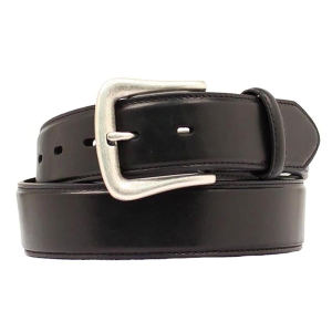 Men's  Basic Smooth Black Belt