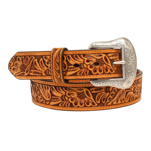 Men's  Floral Embossed Belt
