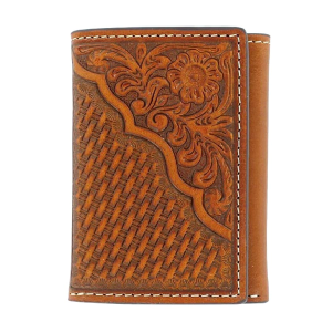 Men's  Tooled Tri-Fold Wallet