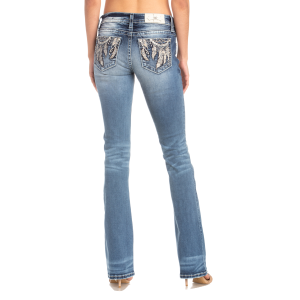 Women's  Feather Dream Catcher Boot Cut Jean