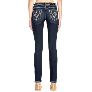 Women's  Feather Mid-Rise Straight Jean