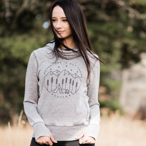 Women's  Adventure is Out There Cowl Neck Sweatshirt