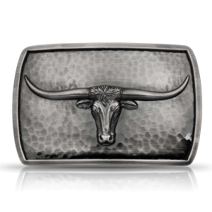 Men's  River Rock Cascade Longhorn Buckle